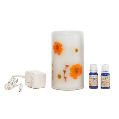 Wwhp 310010003 CandleTek Aroma Therapy Flameless Candle Marigold