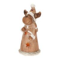 Candle Tek CandleTEK Rustic Ceramic Luminary Flameless Candle Reindeer