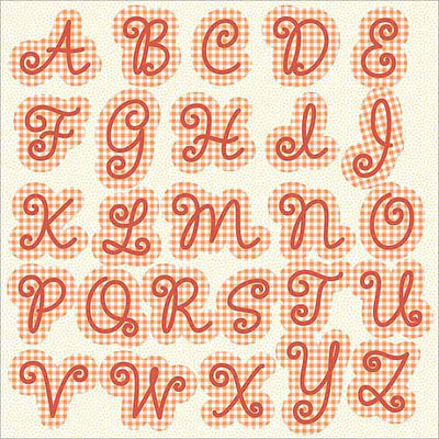 Hampton Art Sweet Tart Monogram Cardstock Stickers, 12