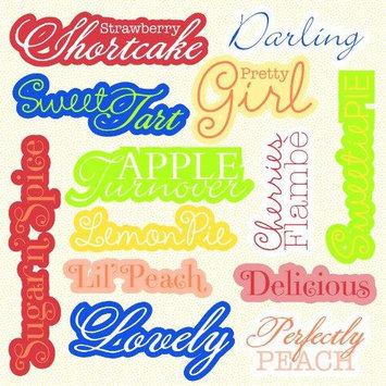 Hampton Art Sweet Tart Chipboard Big Words 12