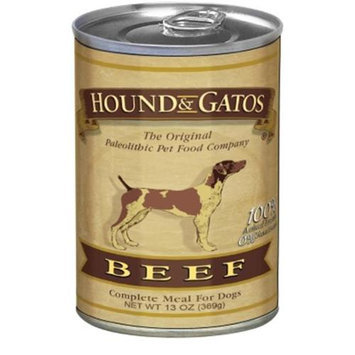 Hound & Gatos Pet Foods Hound & Gatos Pet Food HG58901 13 Oz. Dog Beef Can