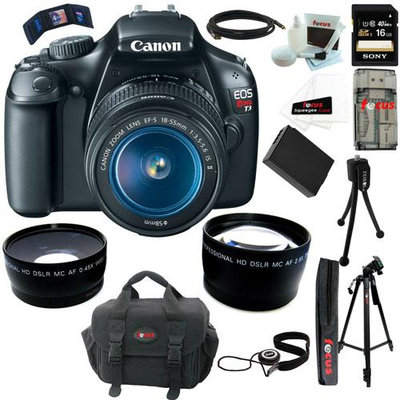 Canon EOS Rebel T3 Digital SLR 3 Lens Bundle + 16GB Accessory Kit