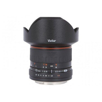 Vivitar 13mm for 2.8 Ultra Wide Angle Lens for Nikon + :Lens Band Stop Zoom Creep Silicone Band Accessory Kit for Nikon D3000, D3100, D5000, D700, D90