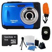 Bell & Howell Splash WP10 Digital Camera (Blue) with Accessory Kit