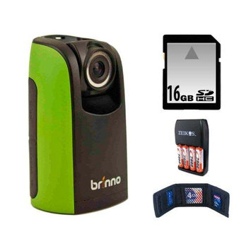 Brinno TLC200 F1.2 Time Lapse & Stop Motion HD Video Camera Built-in Super Wide Angle Lens New Version + 16GB Secure Digital Memory Card + Accessory Kit