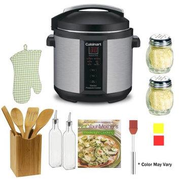 Cuisinart CPC-600 1000W 6qt. Pressure Cooker Refurbished + The Pressure Cooker Gourmet + Accessory Kit