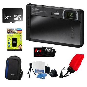 Sony DSC-TX30/B 18 MP Digital Camera with 8GB Accessory Kit