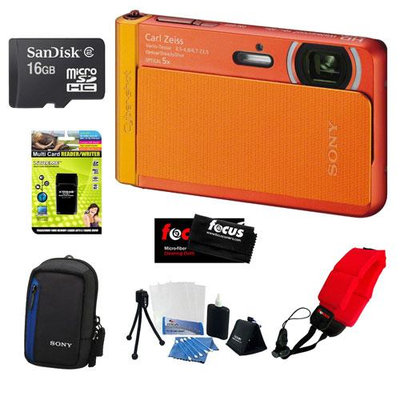 Sony DSC-TX30/D 18 MP Digital Camera with 16GB Accessory Kit