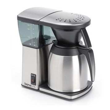 Bonavita BV1800TH 8-cup Coffee Maker w/ Thermal Carafe + Two-Pack Coffee Mug & Iced Beverage Cup + Coffee/ Espresso Descaler