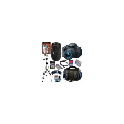 CANON EOS Rebel T5i 18.0 MP CMOS Digital Camera with EF-S 18-55mm f/3.5-5.6 IS STM Zoom Lens + Sigma 70-300mm f/4-5.6 DG