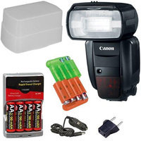 Canon Speedlite 600EX-RT Shoe Mount Flash with Basic Accessory Kit