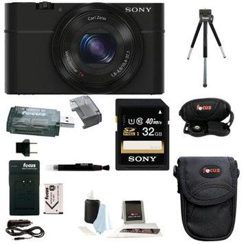 Sony DSC-RX100 20.2 MP Exmor CMOS Sensor Digital Camera with 3.6x Zoom + Sony 32GB Class 10 Memory Card Bundle
