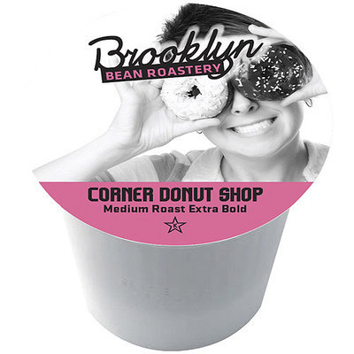 Brooklyn Bean Roastery Corner Donut Shop Single Serve Coffee Cups, 16 count
