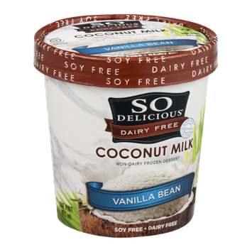 So Delicious Dairy Free Coconut Milk Frozen Dessert Vanilla Bean