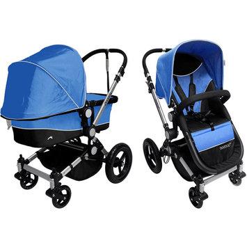 Dream On Me Acrobat Multi-Terrain Stroller & Bassinet, Mali Blue