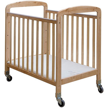 Dream on Me 2-in-1 See-Through Portable Convenience Crib - Natural