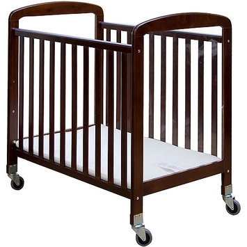 Dream on Me 2-in-1 See-Through Portable Convenience Crib - Espresso