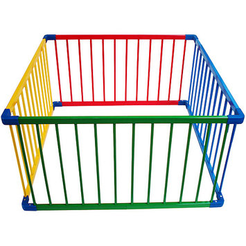 Dream On Me Multi-Colored Portable Wood Gate Enclosure