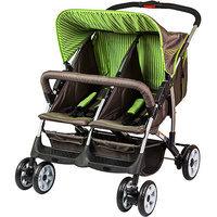 Dream On Me Duplex Stroller Color: Brown