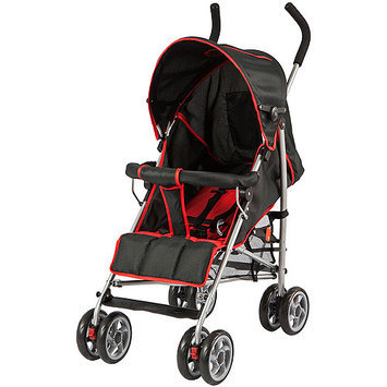 Dream On Me Journey Lightweight Umbrella Stroller - Black/Red