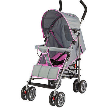Dream On Me Journey Lightweight Umbrella Stroller - Light Gray/Pink