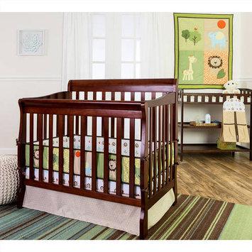 Dream On Me Safari Animals 4 Piece Set Reversible Portable Crib Set