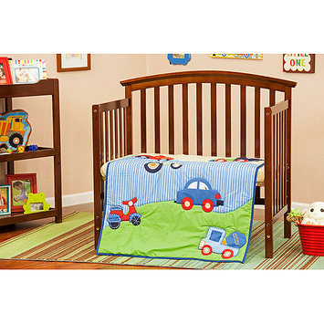 Dream On Me/mia Moda Travel Time 3 Piece Crib Bedding Set