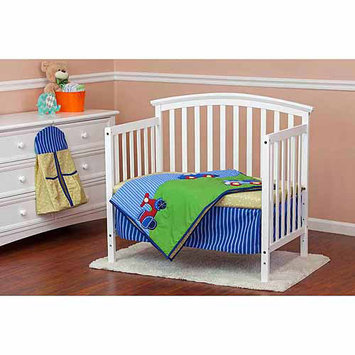 Dream On Me Travel Time 5 Piece Reversible Portable Crib Bedding Set