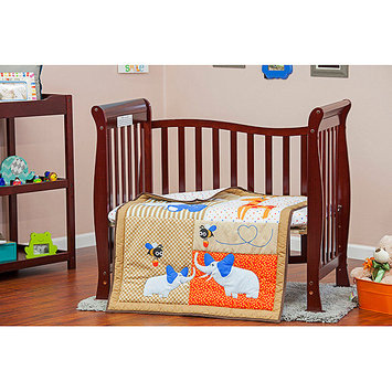 Dream On Me/mia Moda Jungle Babies 3 Piece Crib Bedding Set