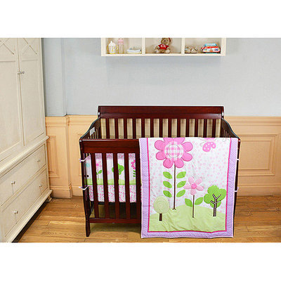 Dream On Me 3-pc. Reversible Spring Garden Mini Crib Set