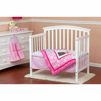Dream On Me Spring Time 5 Piece Reversible Portable Crib Bedding Set