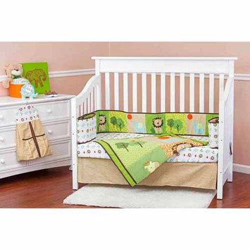 Dream On Me Safari Animals 5 Piece Reversible Crib Bedding Set