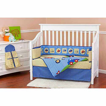Dream On Me Travel Time 5 Piece Reversible Crib Bedding Set