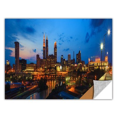 Art Wall Cleveland 8 by Cody York Art Appeelz Removable Wall Art Graphic Size: 12