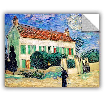 Art Wall The White House At Night by Vincent Van Gogh Art Appeelz Removable Wall Art Graphic Size: 24