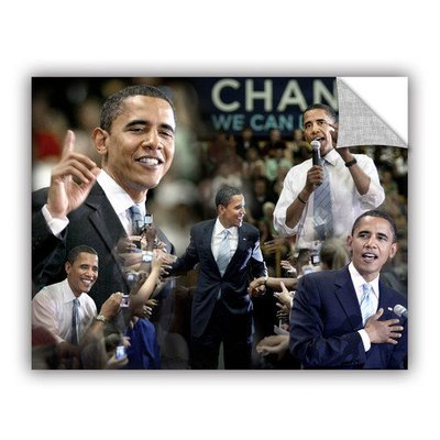 Art Wall Obama Collage Ii by David Kyle Art Appeelz Removable Wall Art Graphic Size: 24