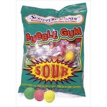 Scripture Candy 543895 Candy Scripture Sour Bubble Gum 5.2Oz Bag