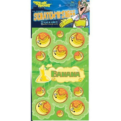 The Stink Facotry 41003 Scratch-N-Sniff Stickers-Banana Pack of 10