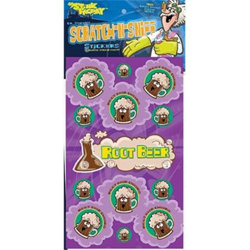 The Stink Facotry 41015 Scratch-N-Sniff Stickers- Root Beer Pack of 10