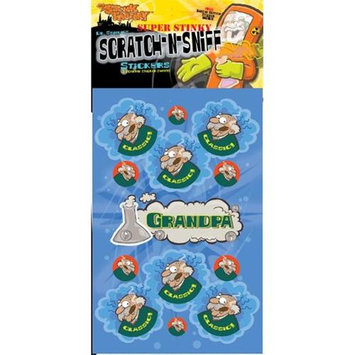 The Stink Facotry 41043 Scratch-N-Sniff Stickers- Grandpa Pack of 10
