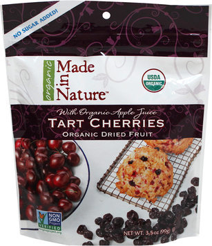 Made In Nature 3.5 oz. Organic Dried Fruit Tart Cherries - Case Of 6