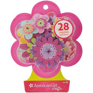 EK Success American Girl Fancy Flowers Stacked Stickers
