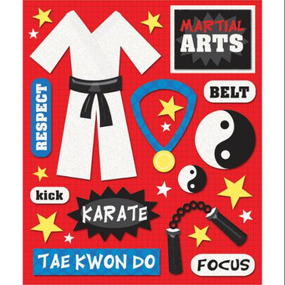 K & Company 452230 Sticker Medley-Martial Arts