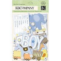 K & Company Cardstock Die-Cuts, Itsy Bitsy Baby Boy