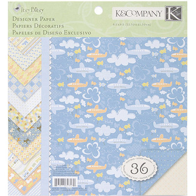 K & Company Simply K Itsy Bitsy Double Sided Paper Pad - Baby Boy - 36 Sheets