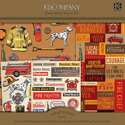 Firefighter Scrap Kit Layouts