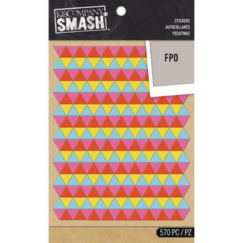 K & Company SMASH Neon Triangle Stickers 2 Sheets/Pkg