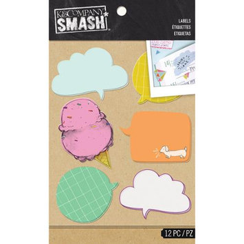 K & Company SMASH Word Bubble Label Stickers 2 Sheets/Pkg