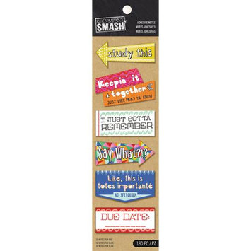 K & Company SMASH Studying Adhesive Notes 180/Pkg