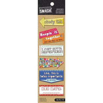 K & Company SMASH Studying Adhesive Notes 180/Pkg